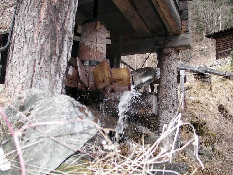 Antrieb der Bocksbergmühle