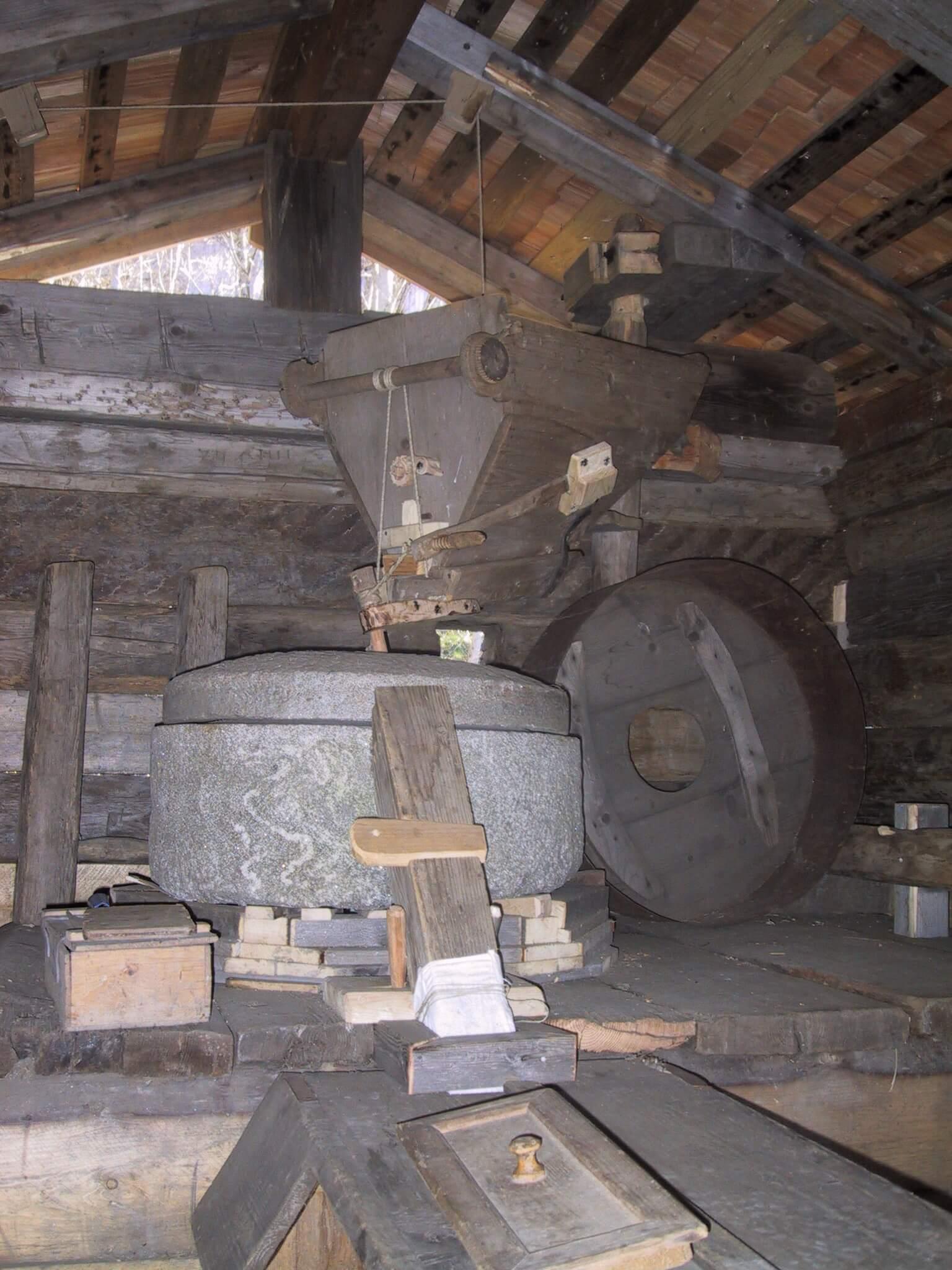 Innenleben der Bocksbergmühle