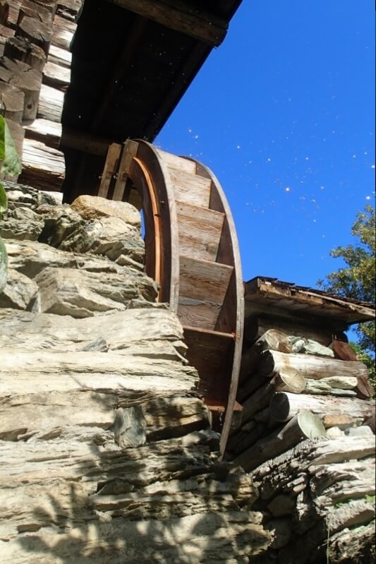 Wasserrad der Rauchbergmühle