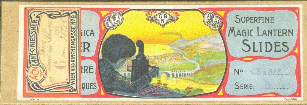 Kartonschachtel für Laterna Magica Bilder